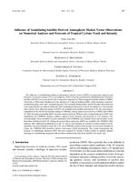 Influence of assimilating satellite-derived atmospheric motion vector observations on numerical analyses and forecasts of tropical cyclone track and intensity