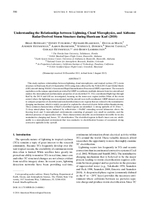 Understanding the relationships between lightning, cloud microphysics, and airborne radar-derived storm structure during Hurricane Karl (2010)