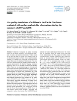 Air quality simulations of wildfires in the Pacific Northwest evaluated with surface and satellite observations during the summers of 2007 and 2008