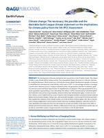 Climate change: The necessary, the possible and the desirable Earth League climate statement on the implications for climate policy from the 5th IPCC Assessment