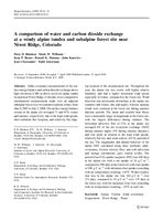 A comparison of water and carbon dioxide exchange at a windy alpine tundra and subalpine forest site near Niwot Ridge, Colorado