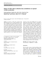 Impact of GPS radio occultation data assimilation on regional weather predictions