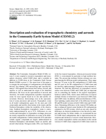 Description and evaluation of tropospheric chemistry and aerosols in the Community Earth System Model (CESM1.2)