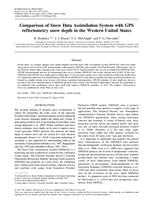 Comparison of snow data assimilation system with GPS reflectometry snow depth in the Western United States