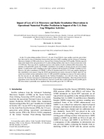 Impact of loss of U.S. microwave and radio occultation observations in operational numerical weather prediction in support of the U.S. data gap mitigation activities