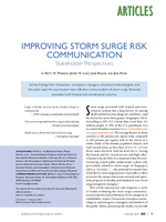 Improving storm surge risk communication: Stakeholder perspectives