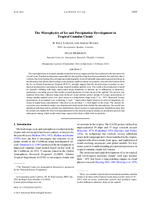 The microphysics of ice and precipitation development in tropical cumulus clouds