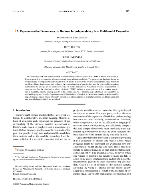 A representative democracy to reduce interdependency in a