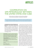 Cooperation on GPS meteorology between the United States and Cuba