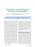 Trigonal ice crystals in Earth's atmosphere