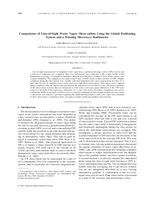 Comparisons of line-of-sight water vapor observations using the Global Positioning System and a pointing microwave radiometer