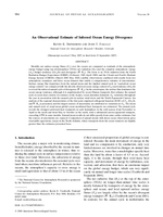 An observational estimate of inferred ocean energy divergence