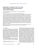 Quantitative evaluation of the low Earth orbit satellite based slant total electron content determination