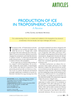 Production of ice in tropospheric clouds: A review