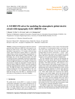 A 3-D RBF-FD solver for modeling the atmospheric global electric circuit with topography (GEC-RBFFD v1.0)