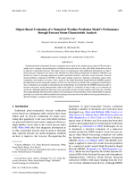 Object-based evaluation of a numerical weather prediction model's performance through forecast storm characteristic analysis