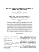 Wave-induced boundary layer separation in the lee of the Medicine Bow Mountains. Part II: Numerical modeling