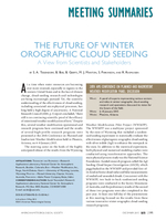 The future of winter orographic cloud seeding: A view from scientists and stakeholders