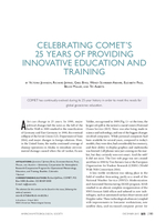 Celebrating COMET's 25 years of providing innovative education and training