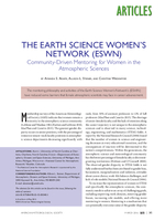 The Earth Science Women's Network (ESWN): Community-driven mentoring for women in the atmospheric sciences
