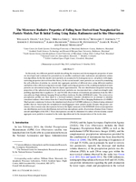The microwave radiative properties of falling snow derived from nonspherical ice particle models. Part II: Initial testing using radar, radiometer and In situ observations