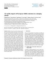 Air quality impacts of European wildfire emissions in a changing climate