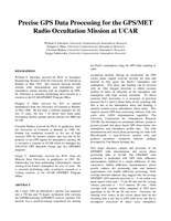 Precise GPS data processing for the GPS/MET radio occultation mission at UCAR