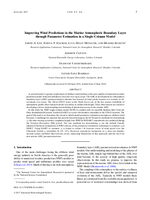 Improving wind predictions in the marine atmospheric boundary layer through parameter estimation in a single-column model