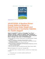 WHATCH'EM: A weather-driven energy balance model for determining water height and temperature in container habitats for Aedes aegypti