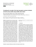 Evaluating the strength of the land-atmosphere moisture feedback in Earth system models using satellite observations