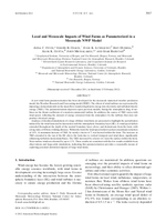 Local and mesoscale impacts of wind farms as parameterized in a mesoscale NWP model
