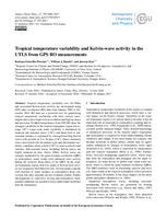 Tropical temperature variability and Kelvin-wave activity in the UTLS from GPS RO measurements