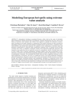 Modeling European hot spells using extreme value analysis