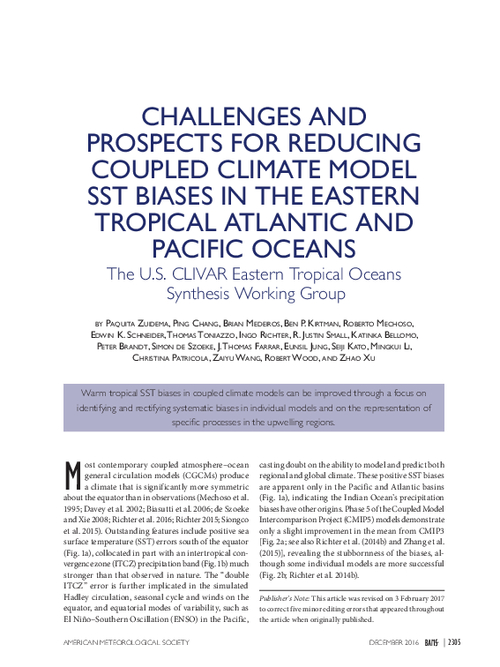 Challenges and prospects for reducing coupled climate model SST