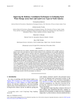 Improving the radiance assimilation performance in estimating snow water storage across snow and land-cover types in North America