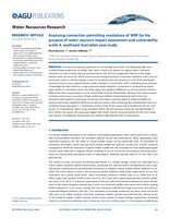 Assessing convection permitting resolutions of WRF for the purpose of water resource impact assessment and vulnerability work: A southeast Australian case study