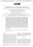 The amplitude of lee waves on the boundary-layer inversion
