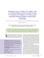 Finescale structure of a snowstorm over the northeastern United States: A first look at high-resolution HIAPER cloud radar observations