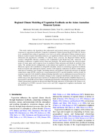 Regional climate modeling of vegetation feedbacks on the Asian–Australian monsoon systems