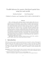 Parallel inference for massive distributed spatial data using low-rank models