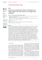 Impact of fire on global land surface air temperature and energy budget for the 20th century due to changes within ecosystems