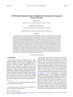 A PDF-based parameterization of subgrid-scale hydrometeor transport in deep convection