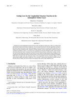 Scaling laws for the longitudinal structure function in the atmospheric surface layer