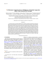 A performance comparison between multiphysics and stochastic approaches within a North American RAP ensemble