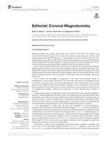 Editorial: Coronal magnetometry