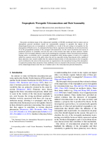 Tropospheric waveguide teleconnections and their seasonality
