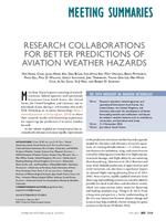 Research collaborations for better predictions of aviation weather hazards