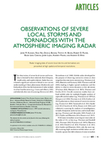 Observations of severe local storms and tornadoes with the atmospheric imaging radar