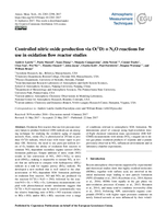 Controlled nitric oxide production via O(1D)  + N2O reactions for use in oxidation flow reactor studies