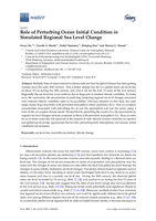 Role of perturbing ocean initial condition in simulated regional sea level change